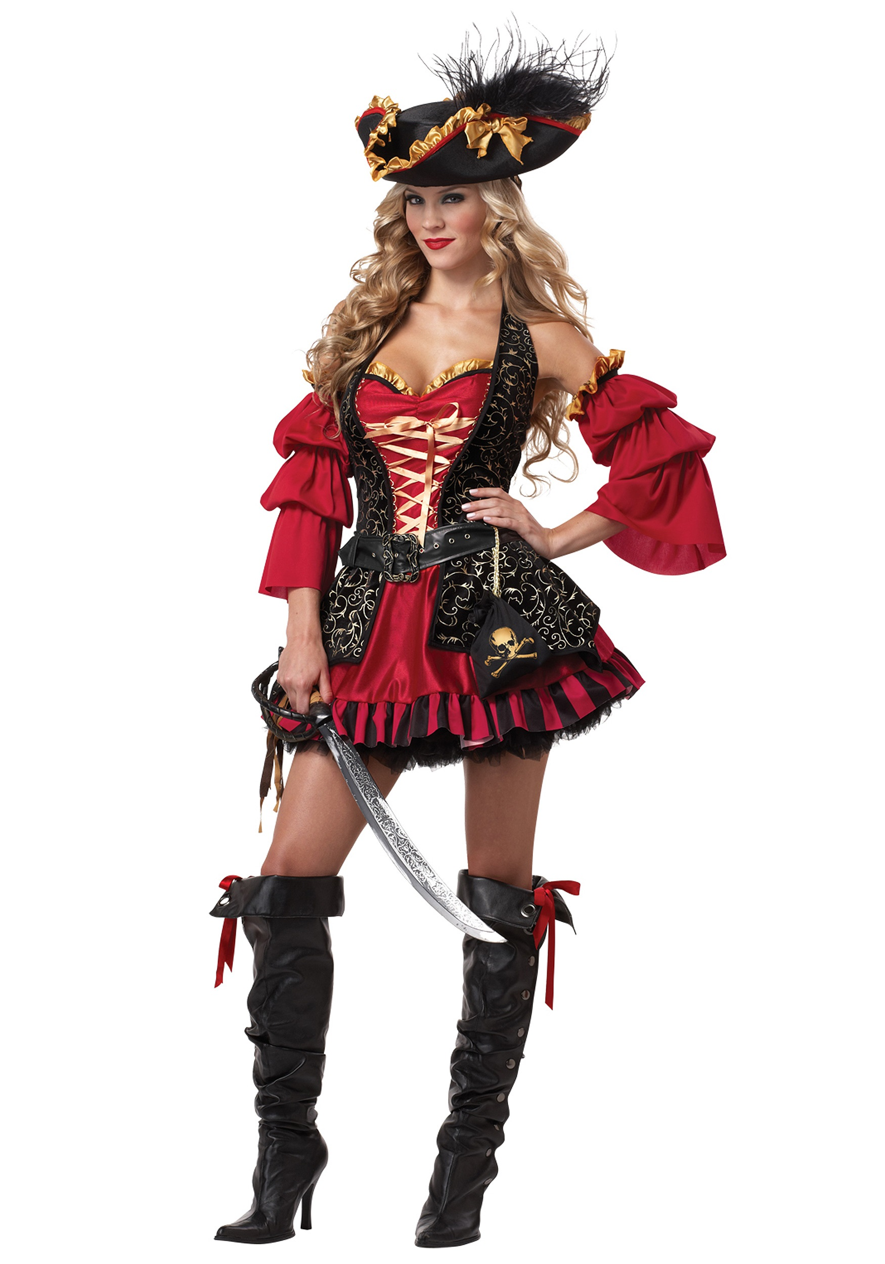 Sexy Plus Spanish Pirate Costume