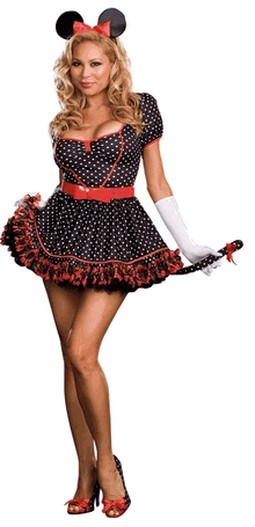 Sexy Polka Dot Mouse Costume