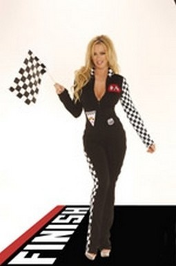 Sexy Racer Jumpsuit Costume