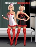 Sexy Reversible Nurse Jacqueline Hyde Costume