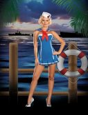 Sexy Sailor Stormy Sky Costume