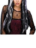 Streaked Black Witch Wig
