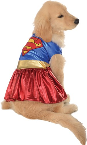Super Girl Dog Costume