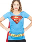 Supergirl Suit Up Womens Sublimated Cape Tee
