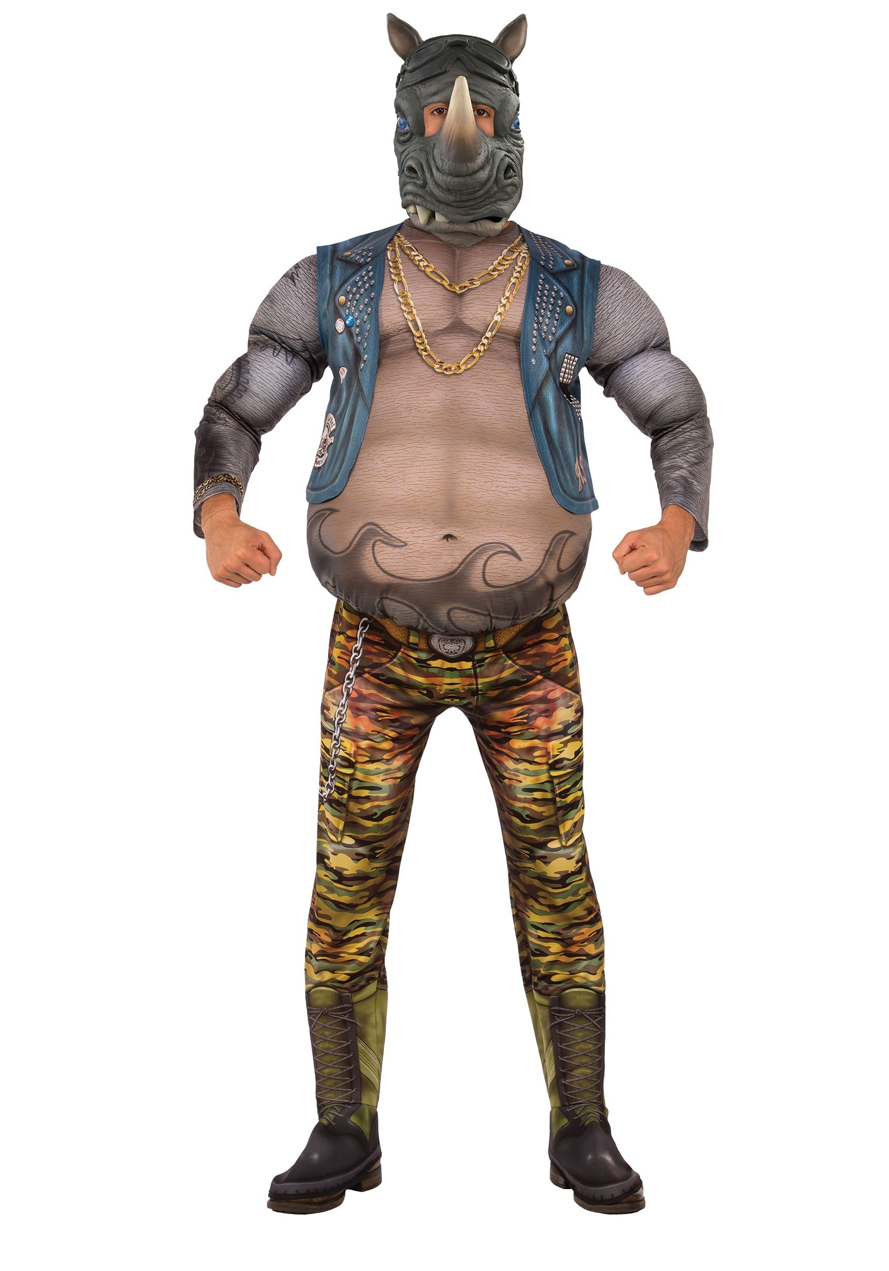 TMNT 2 Adult Deluxe Rocksteady Costume