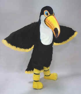 Teddy Toucan Mascot Costume