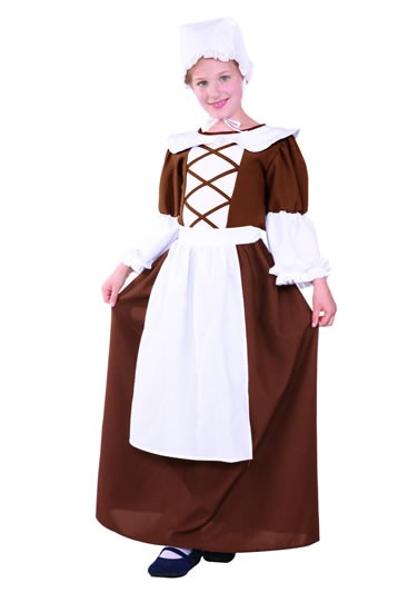 Teen Colonial Peasant Costume