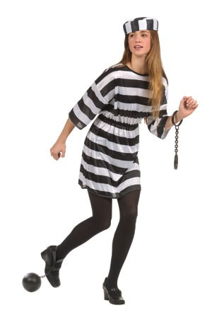 Teen Convict Costume (Girl)