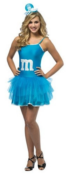 Teen M & M Dress - Blue