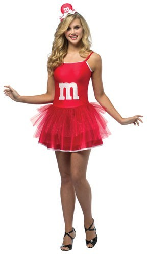 Teen M & M Dress - Red