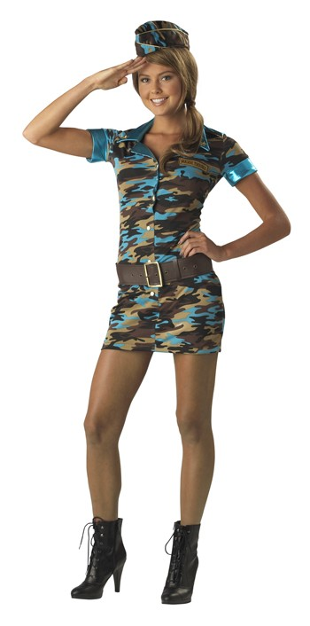 Teen Major Trouble Military Costume