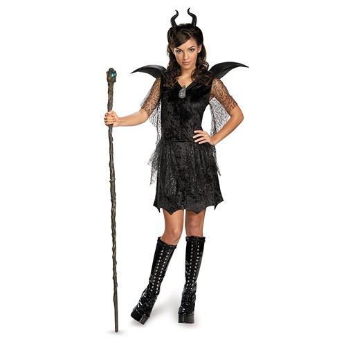 Teen Maleficent Black Gown Deluxe