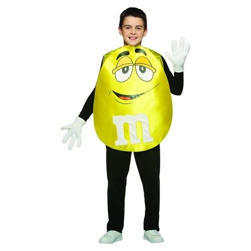 Teen Yellow M&M'S Character Poncho Costume