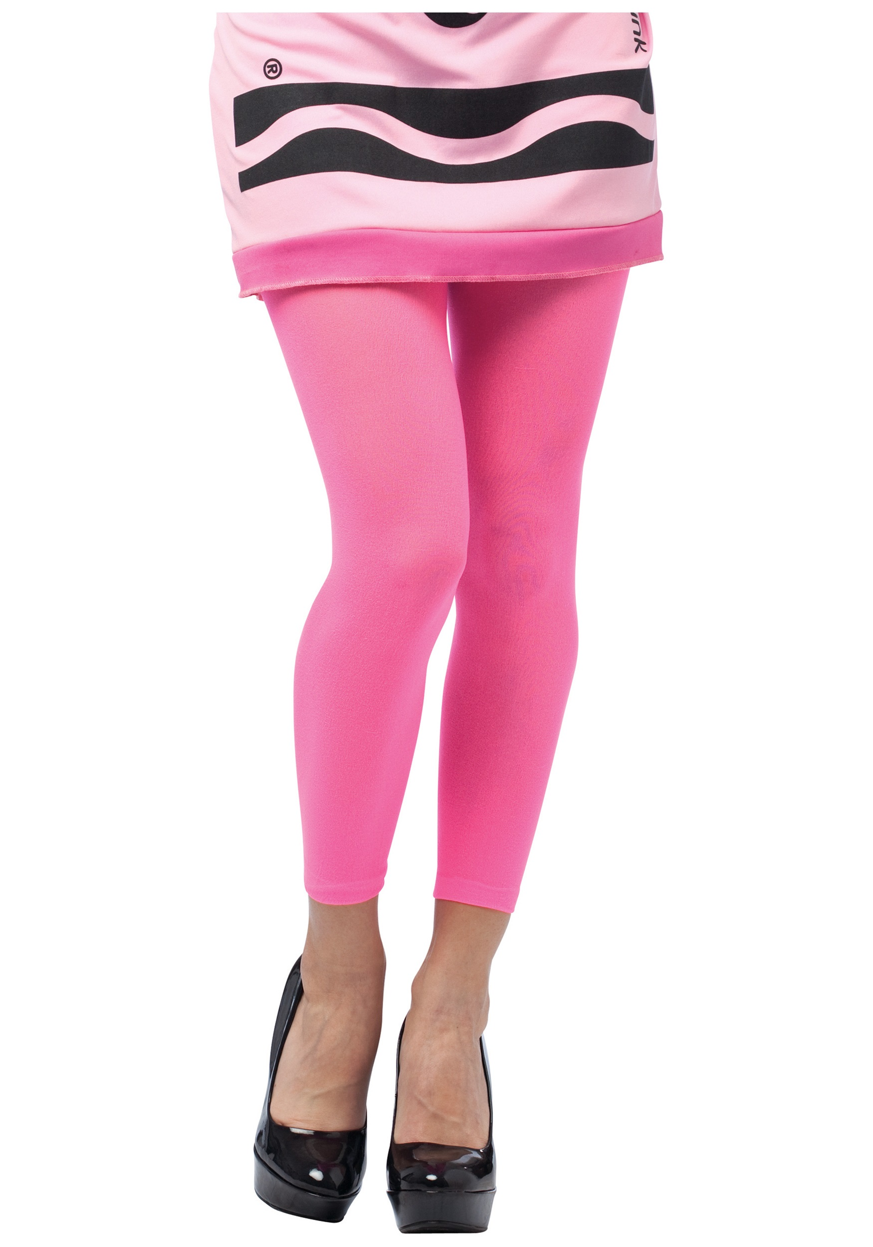 Tickle Me Pink Crayon Footless Tights