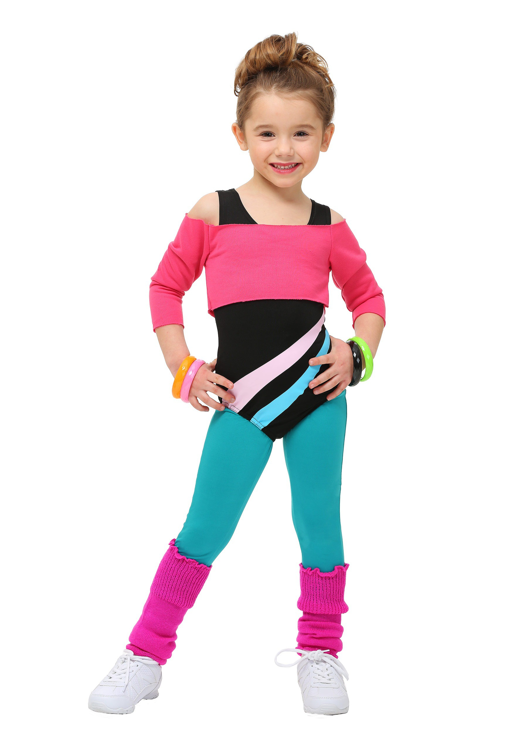 Toddler 80's Workout Girl Costume