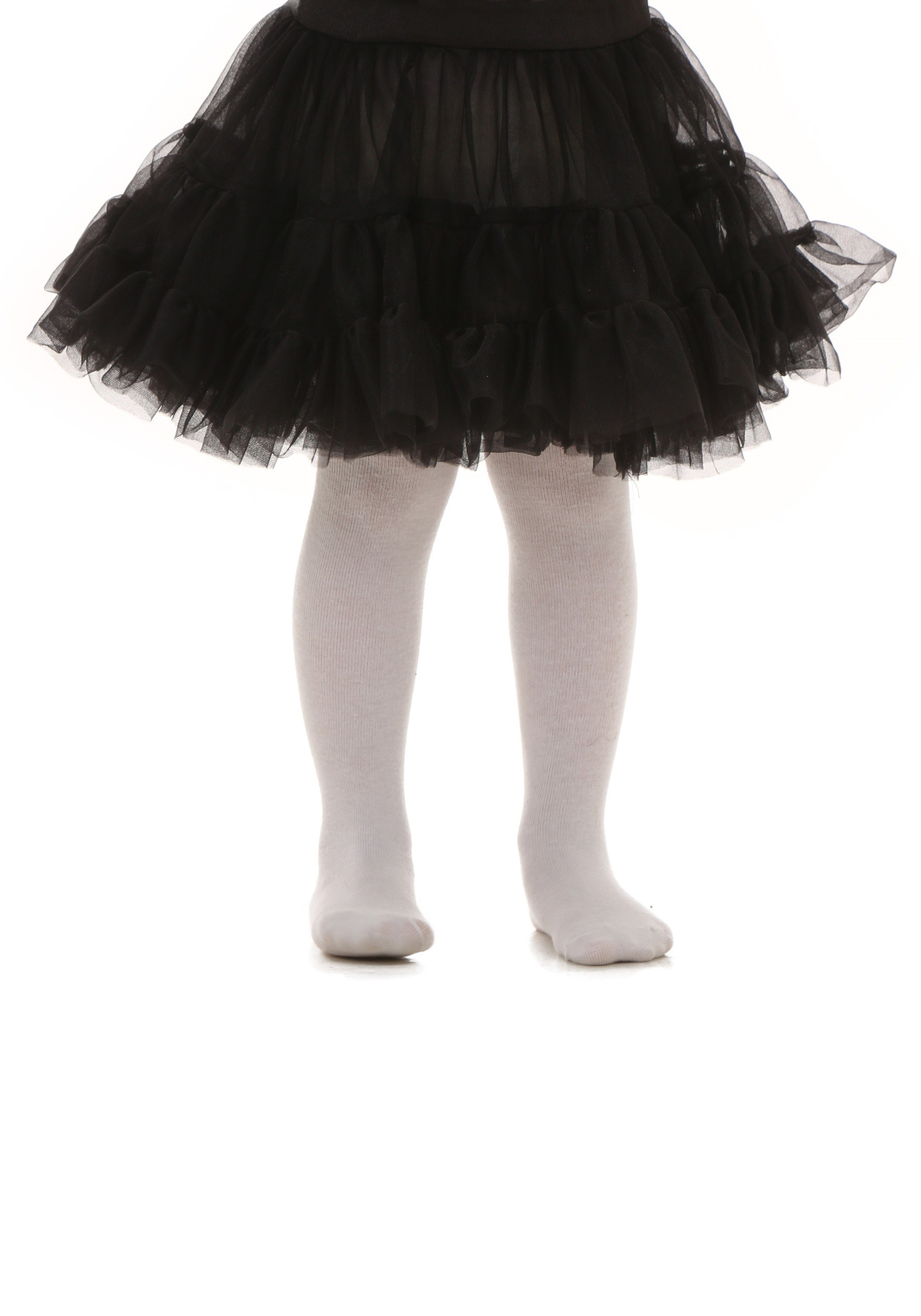 Toddler Black Knee Length Crinoline