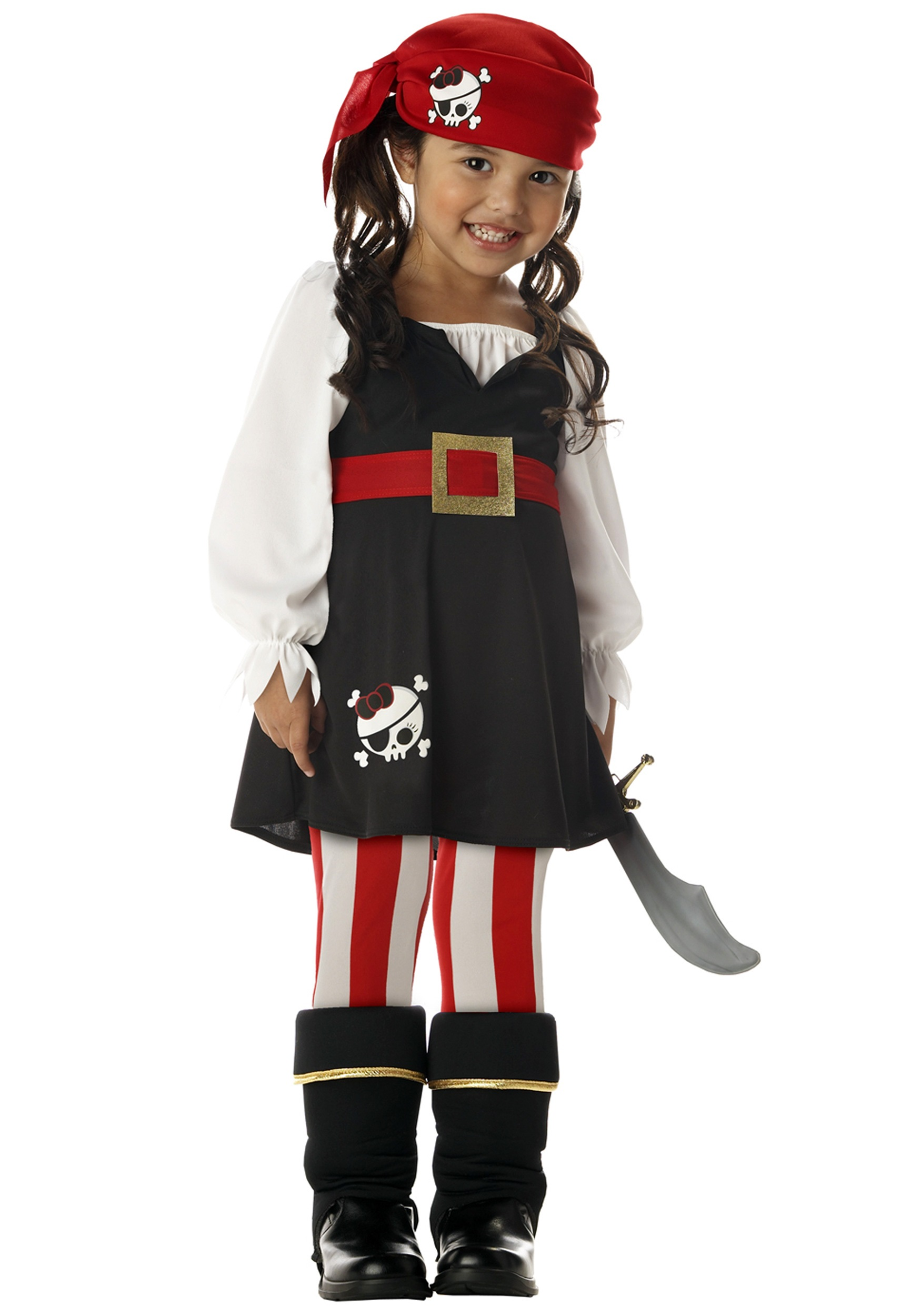 Toddler Girls Pirate Costume