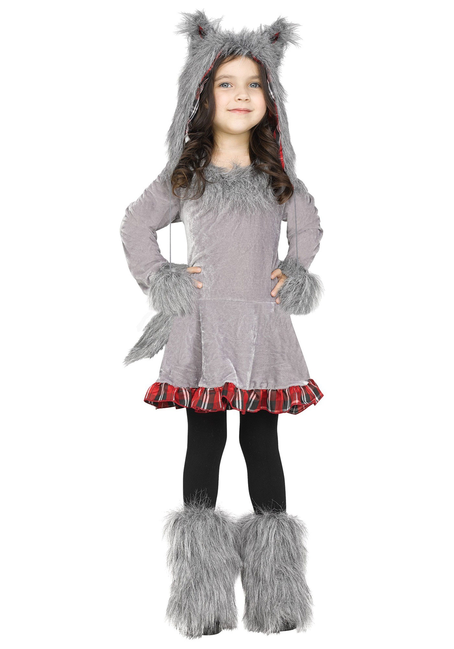 Toddler Girls Wolf Costume
