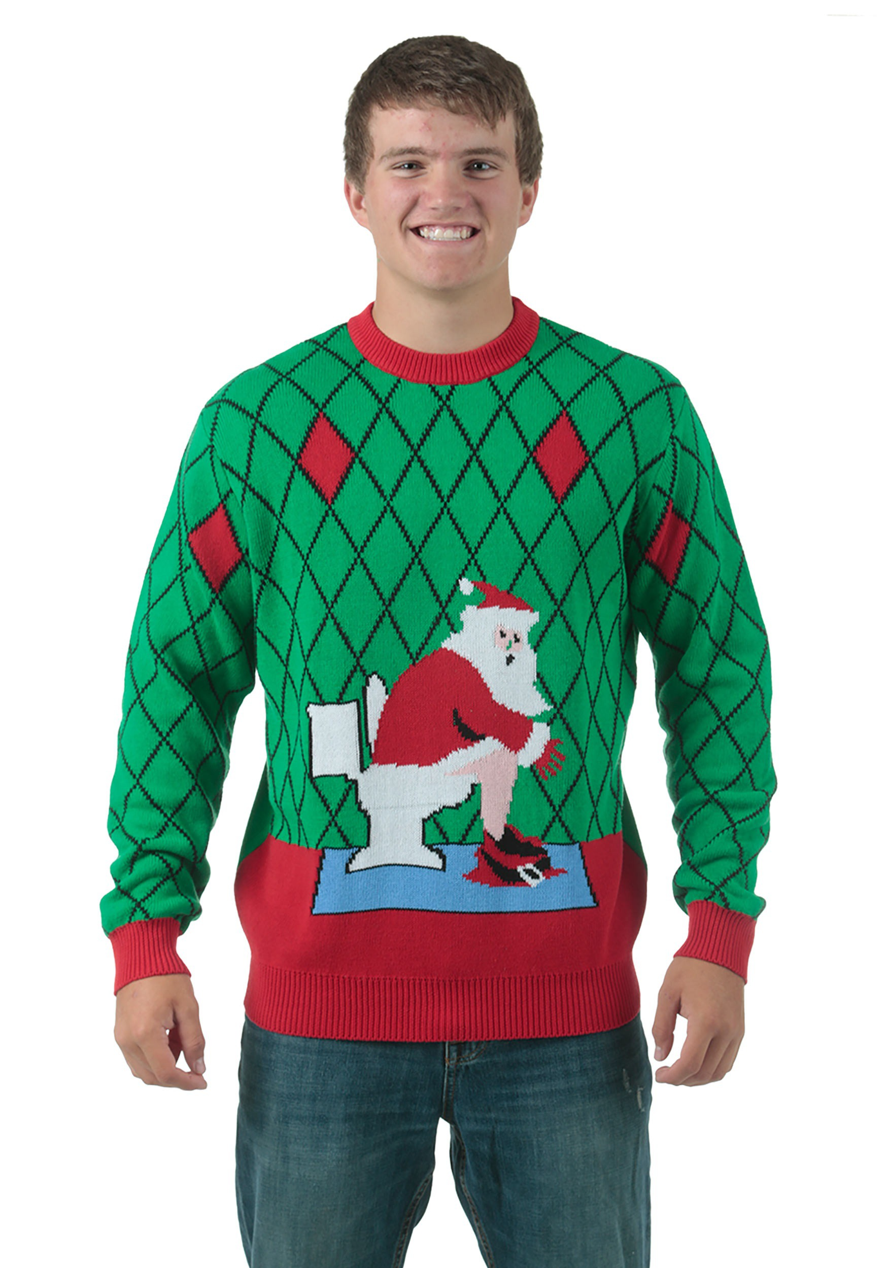 Toilet Santa Ugly Christmas Sweater