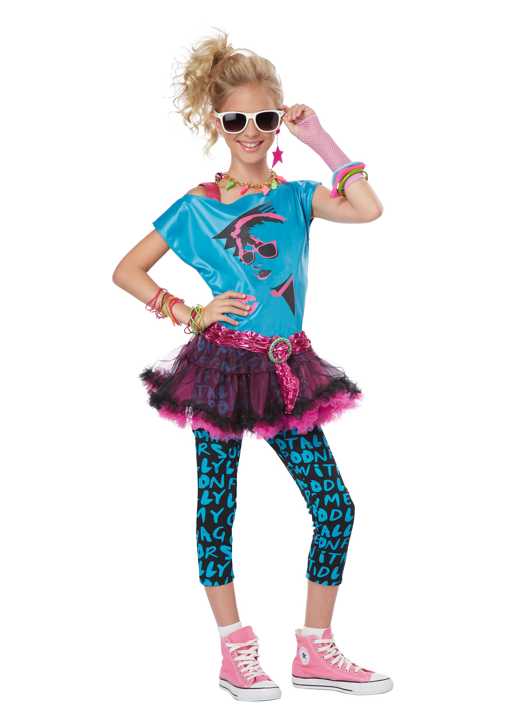 Tween 80s Valley Girl Costume