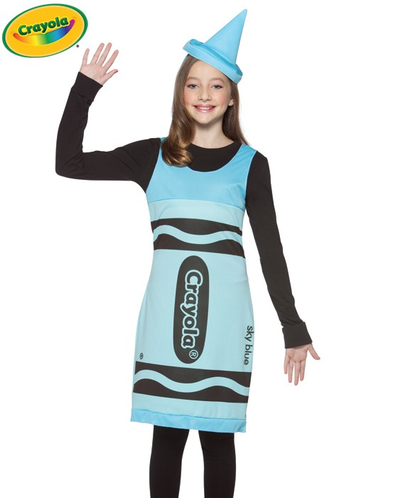 Tween Sky Blue Crayola Costume Dress