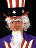 Uncle Sam Wig Goatee and Eyebrows