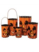 Wavy Metal Halloween Luminaries Set
