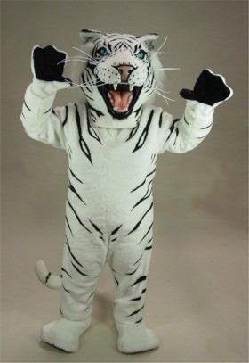 White Tiger Mascot Costume