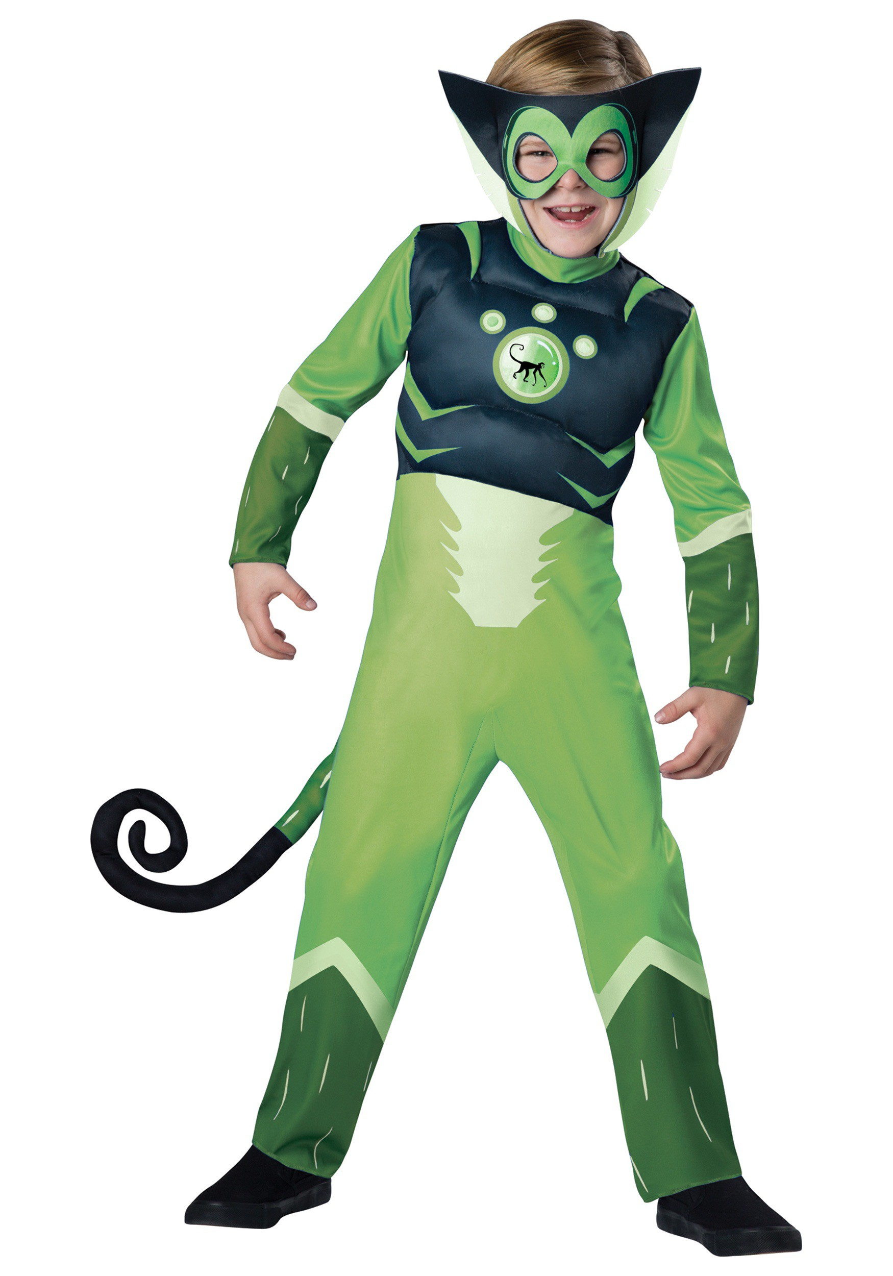 Wild Kratts Green Spider Monkey Costume
