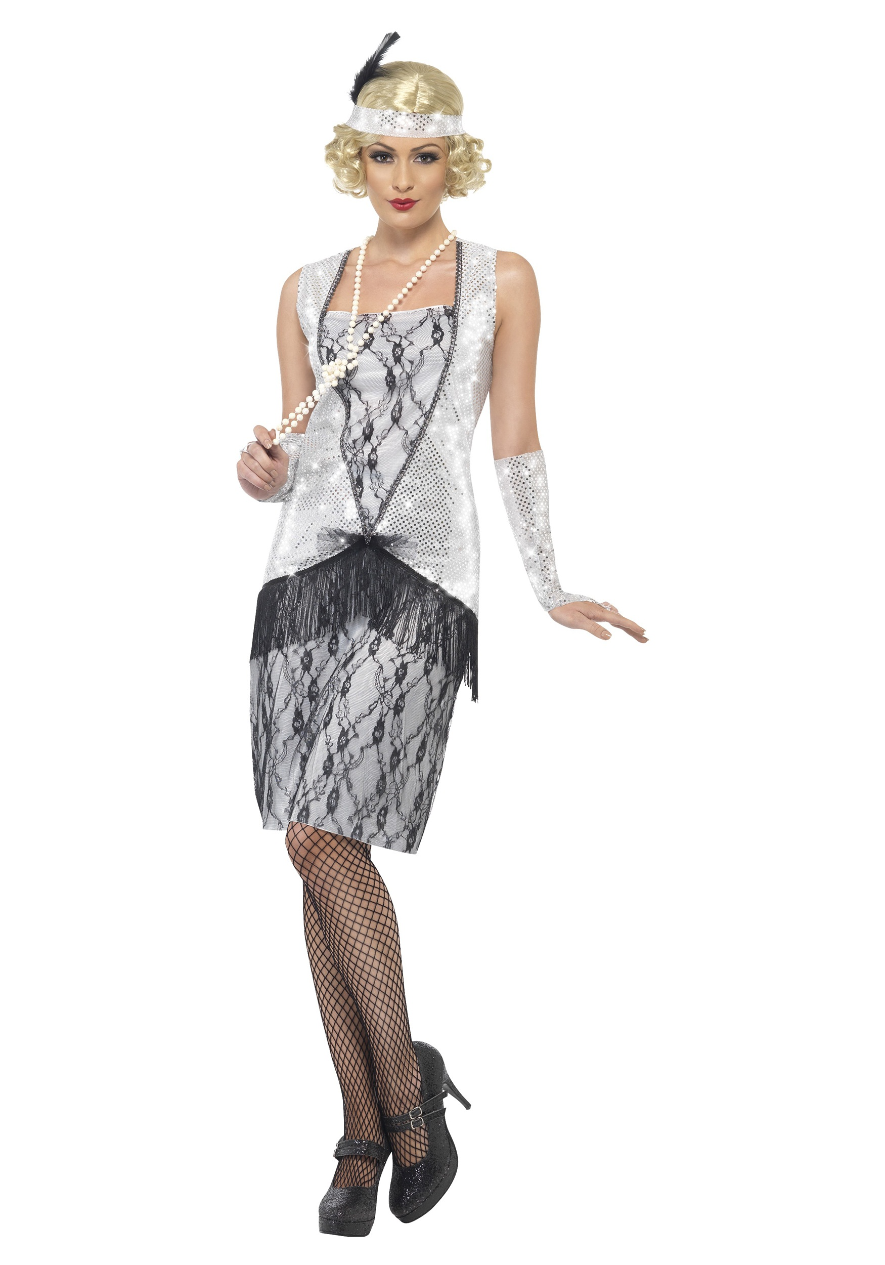 Women's 1920s Silver Flapper Costume