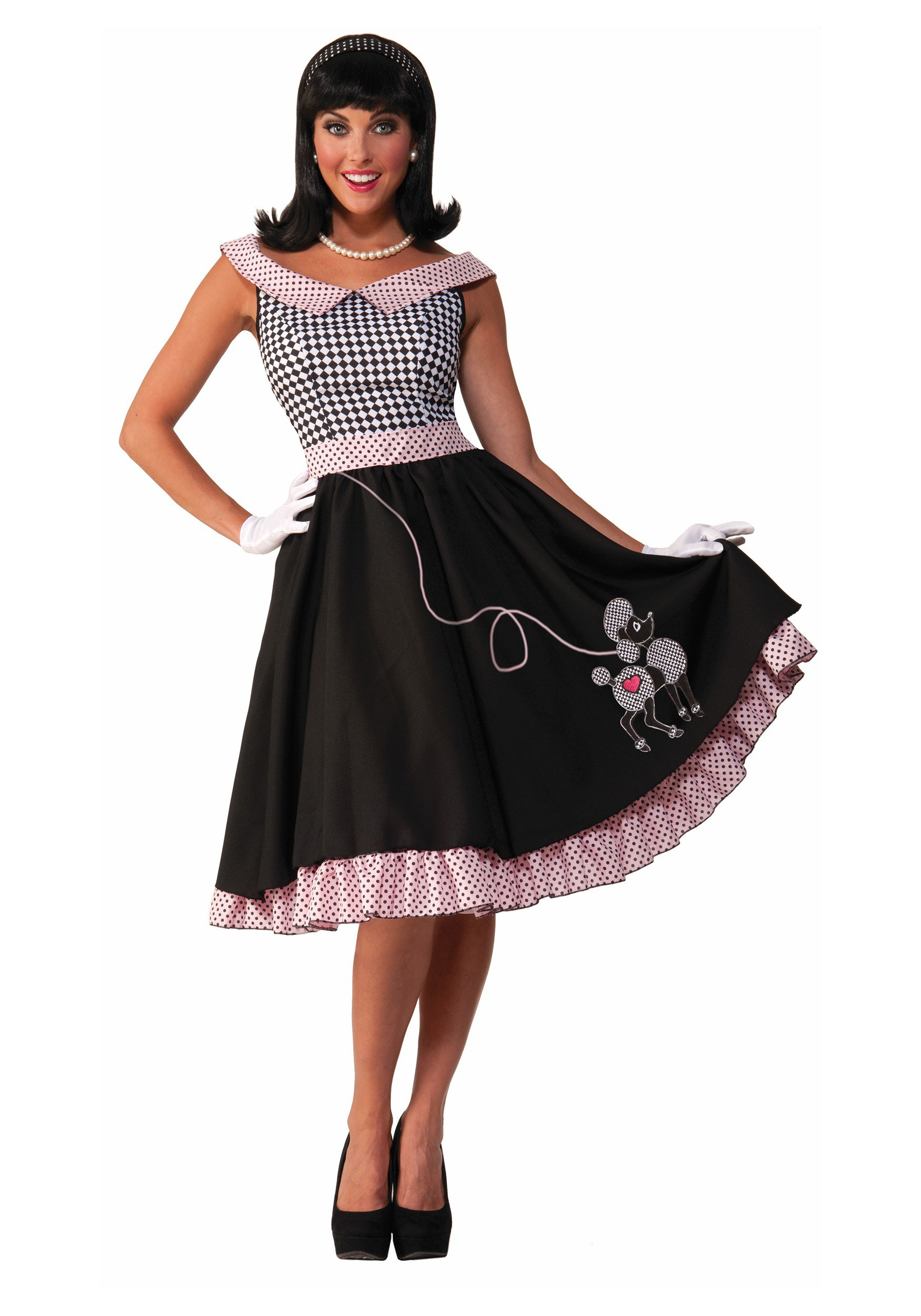 Women's 50s Checkered Cutie Costume