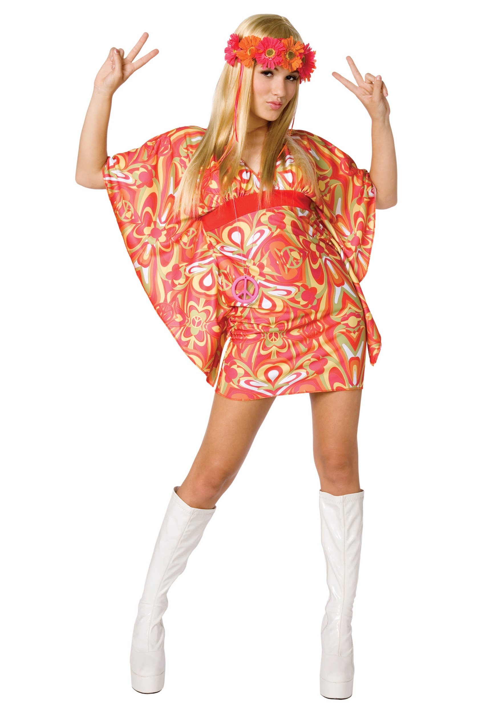 Womens 60s Hippie Costume