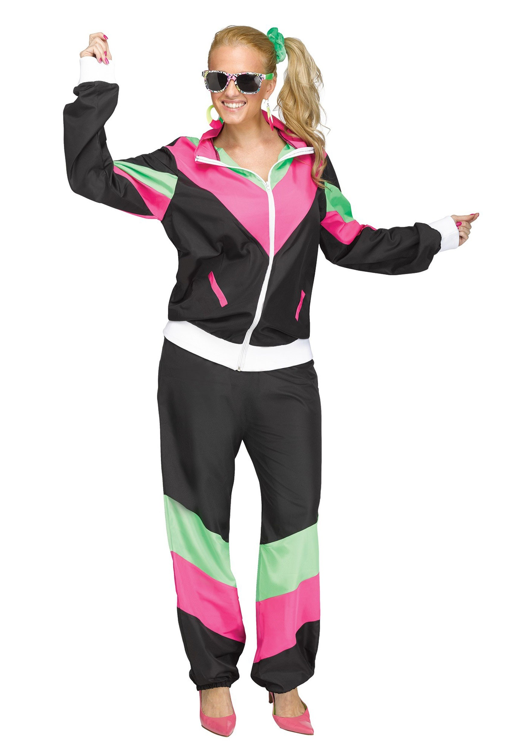 Women's 80's Track Suit Costume