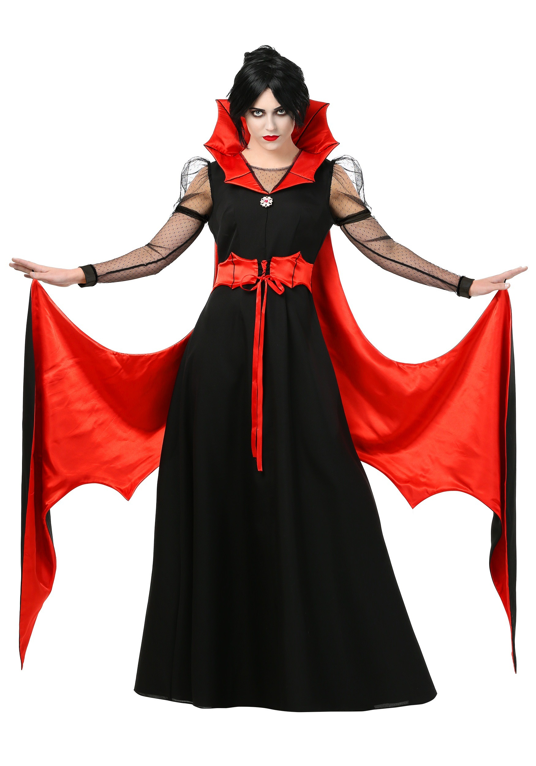 Women's Batty Vampire Plus Size Costume