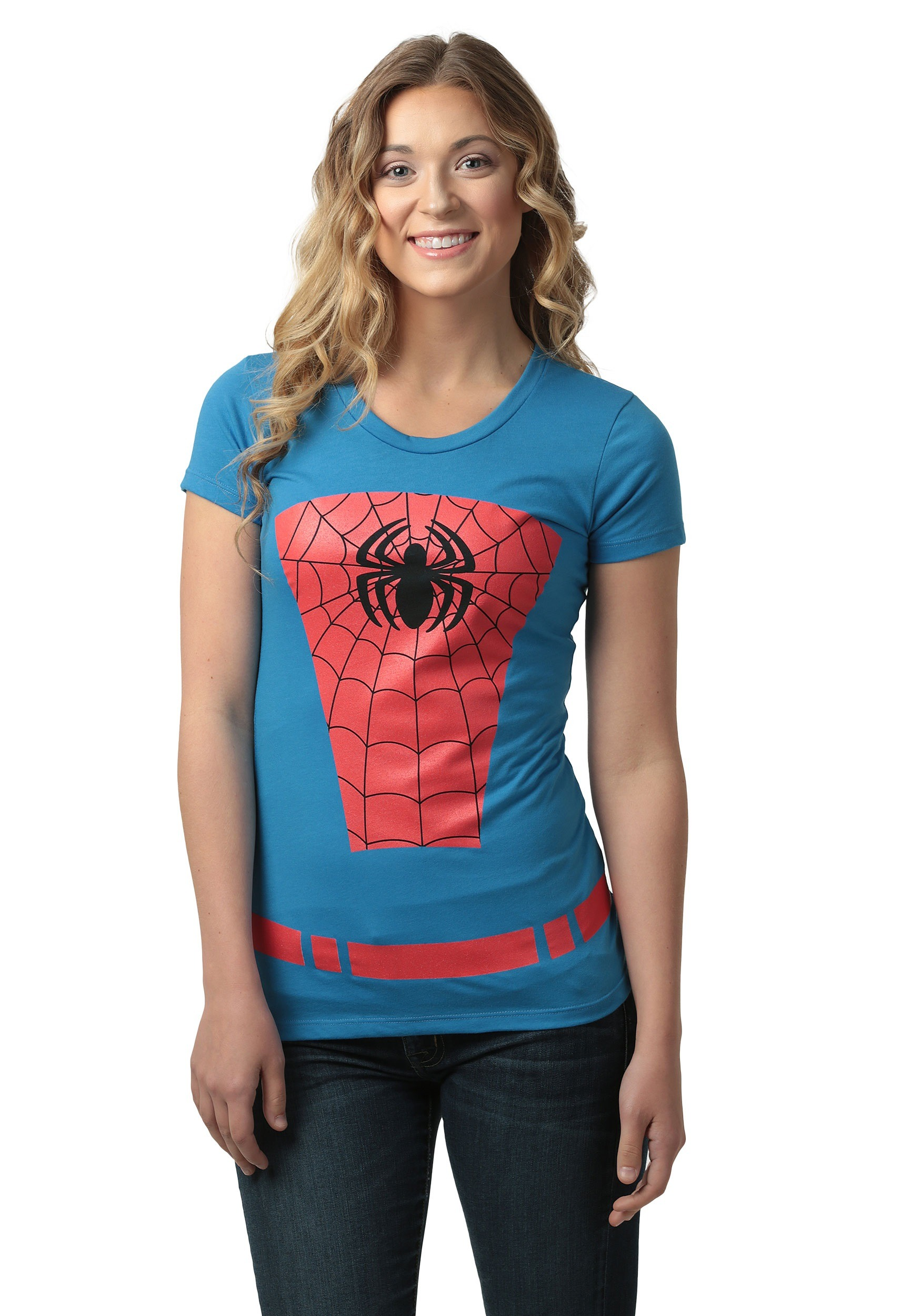 Womens Belted Spider-Man Costume TShirt