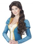 Womens Brunette Medieval Beauty Wig