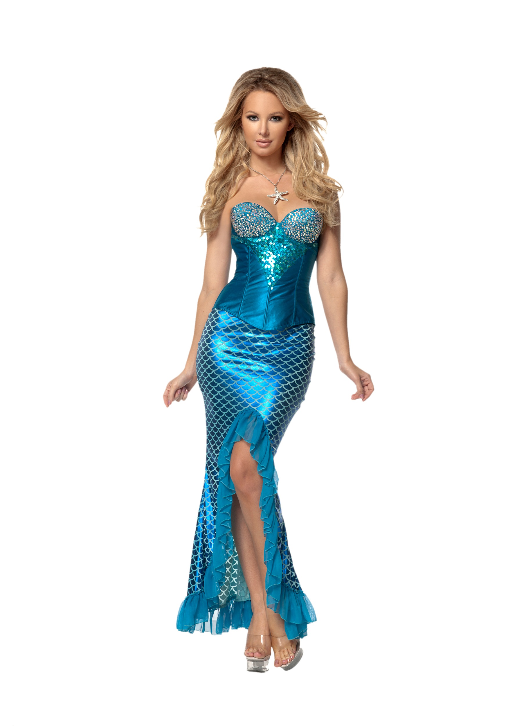 Women's Deluxe Blue Mermaid Costume