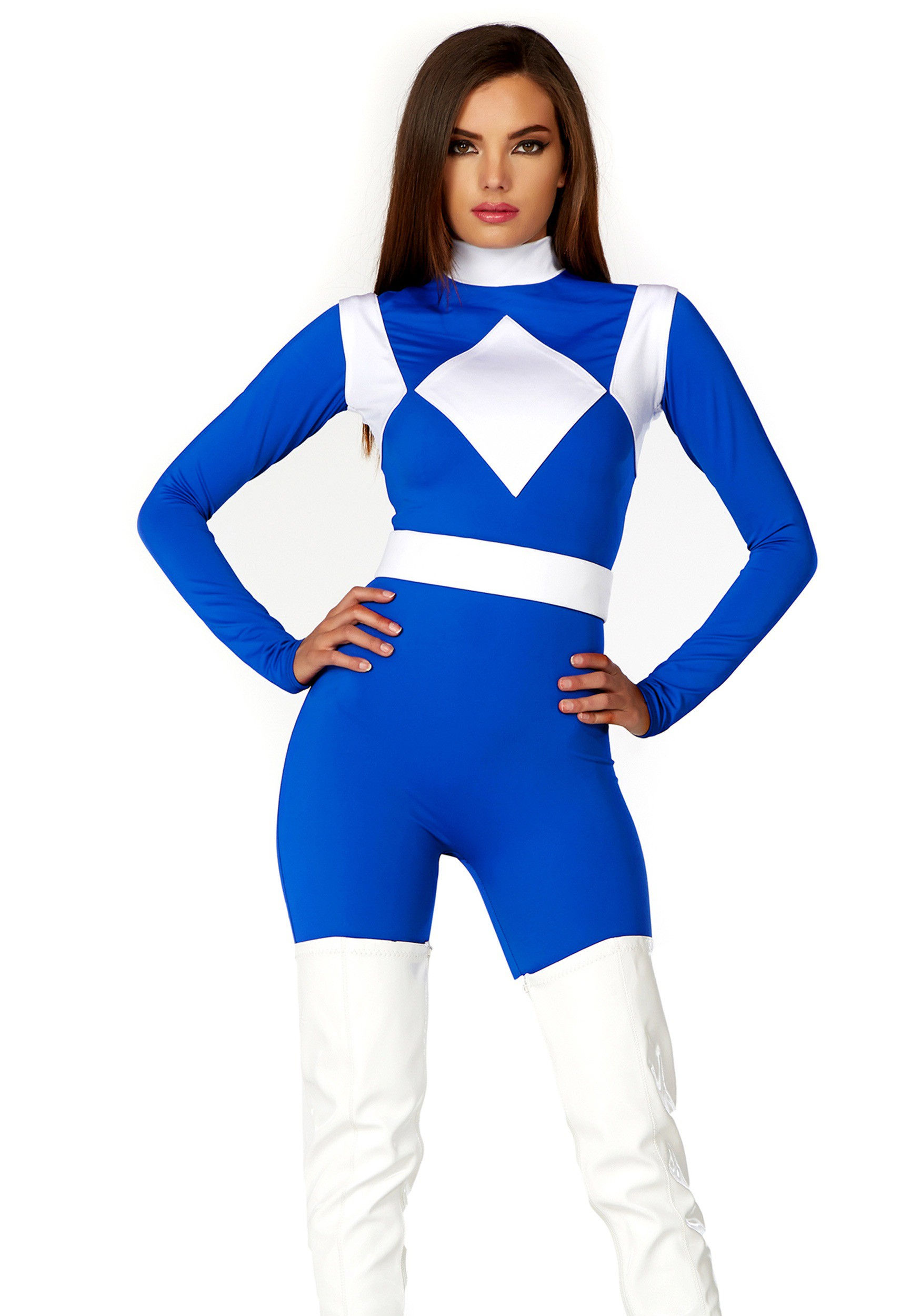 Women's Dominance Action Figure Blue Catsuit