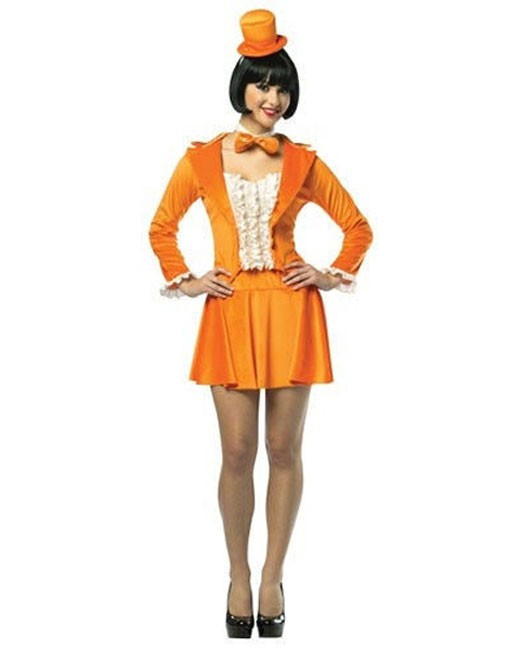 Women's Dumb Dumber Costume Lloyd Orange Tuxedo