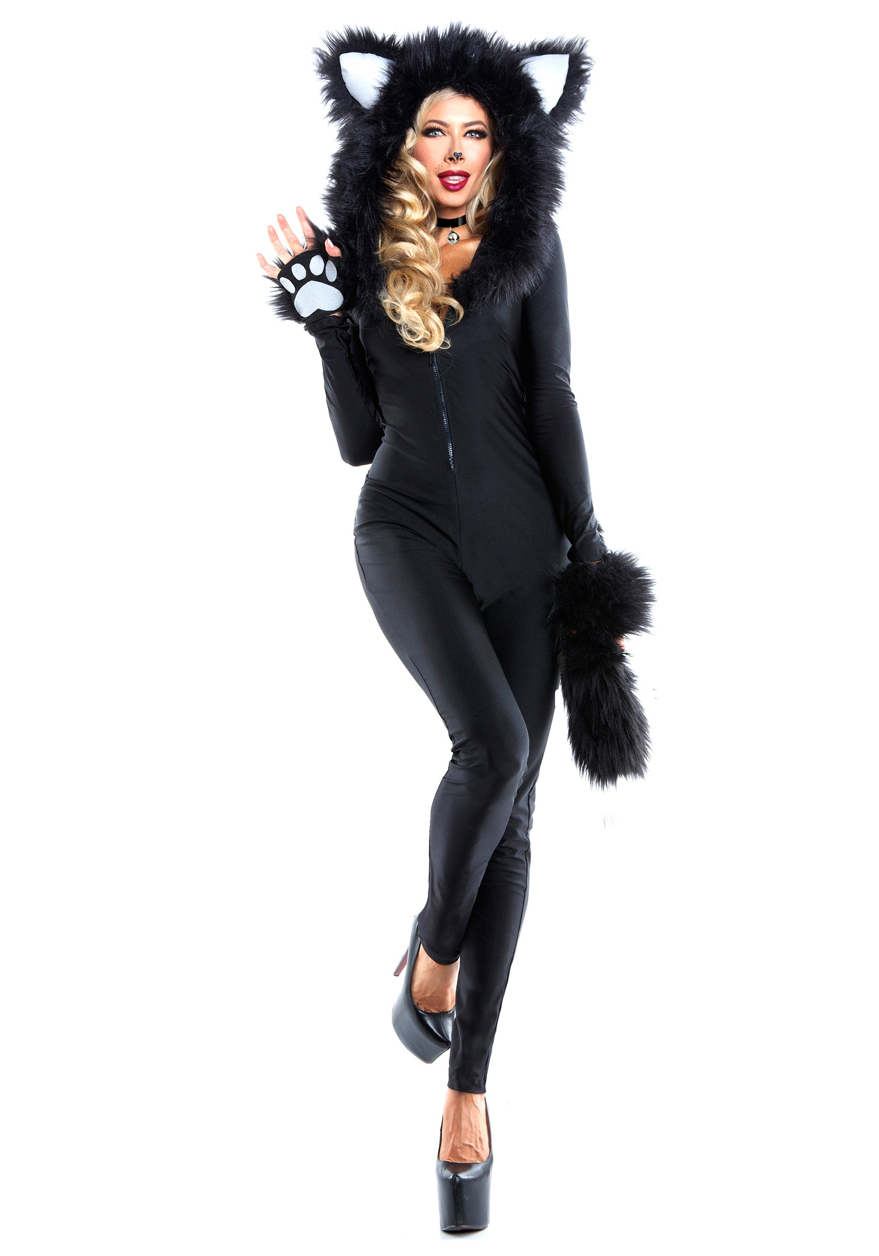 Women's Furry Feline Costume