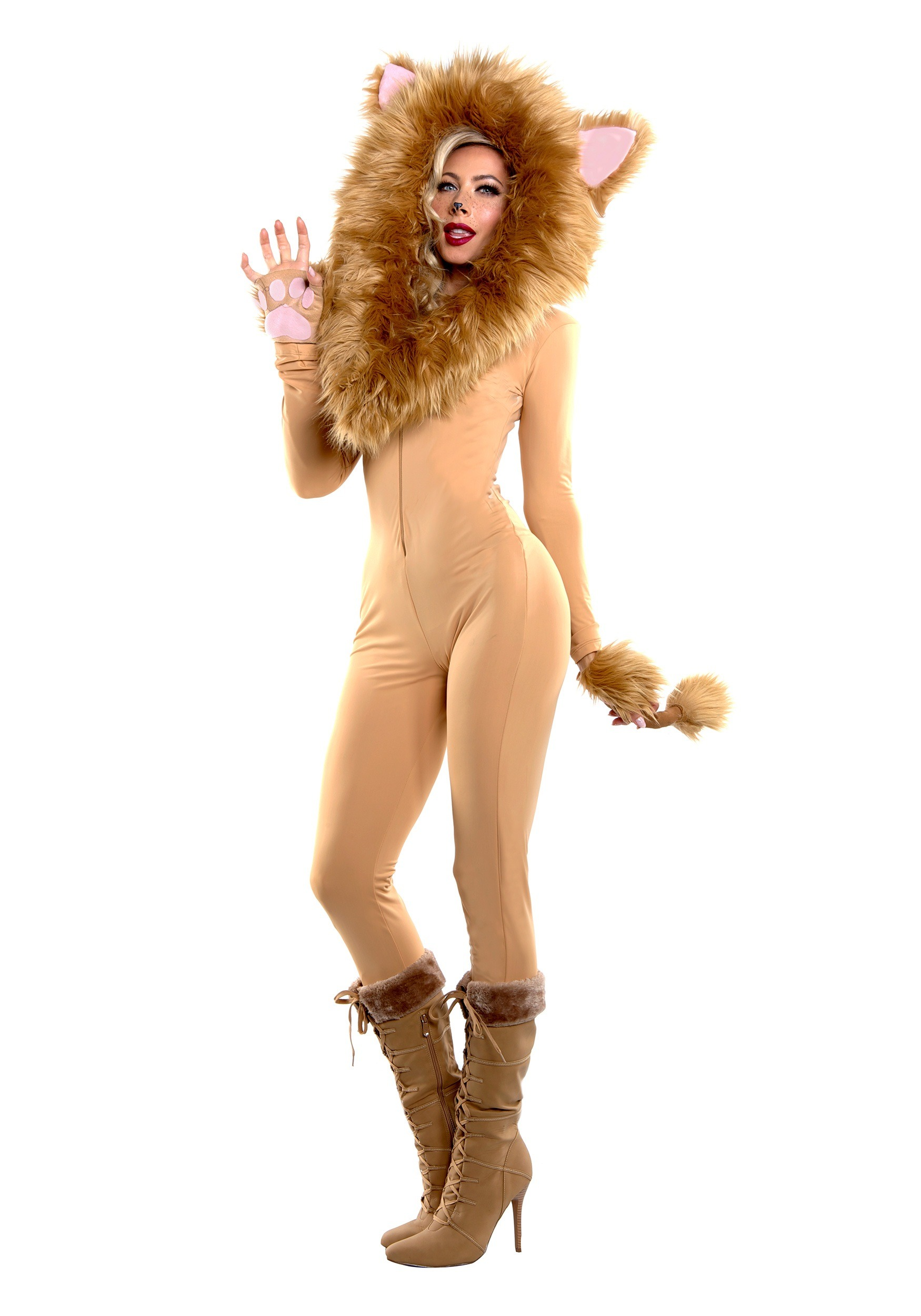 Women's Hooded Lion Costume