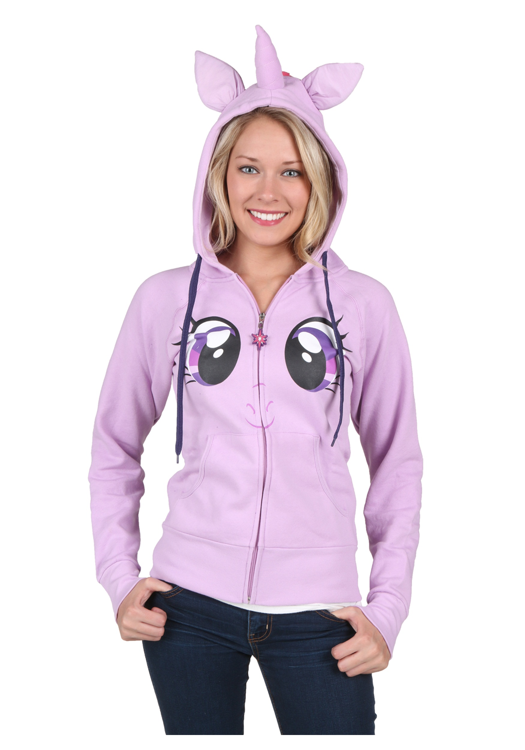Women's MLP Twilight Face Costume Hoodie