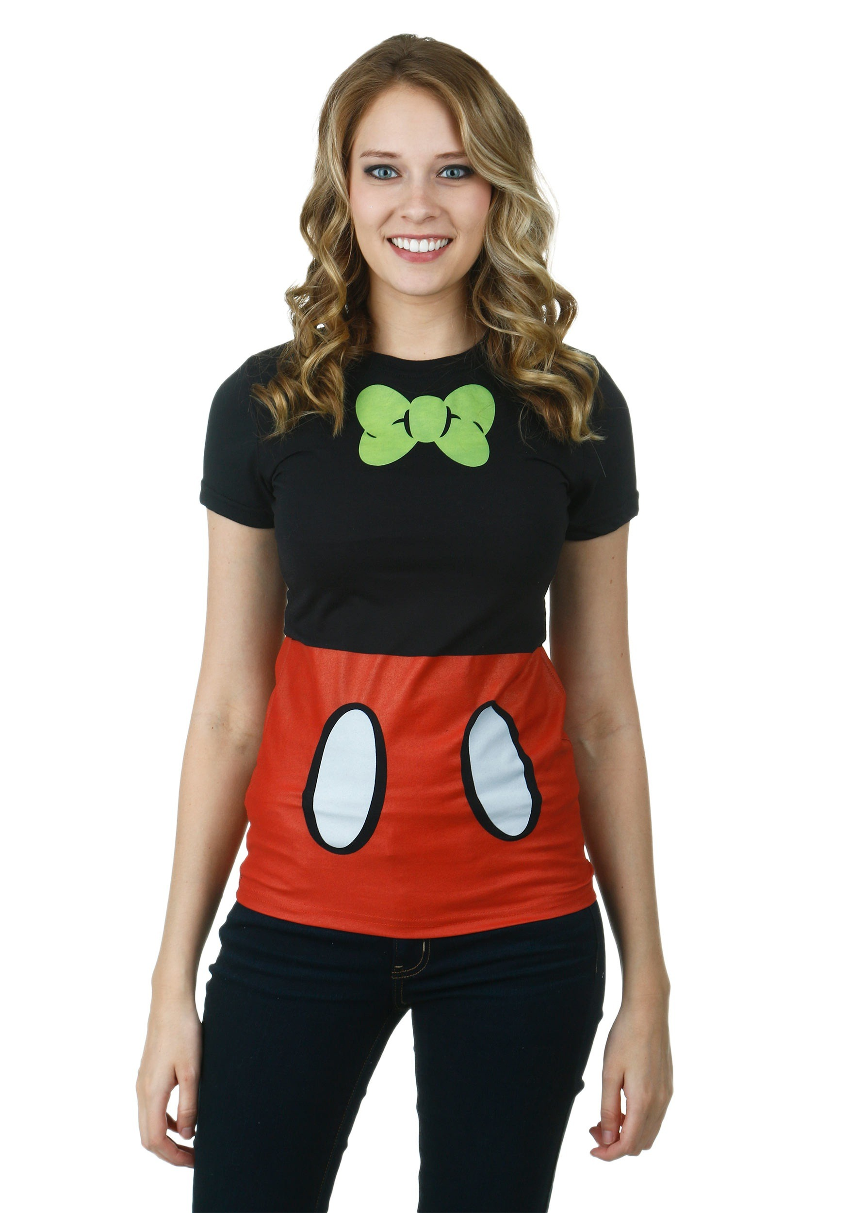 Womens Mickey Mouse I Am Mickey Costume T-Shirt