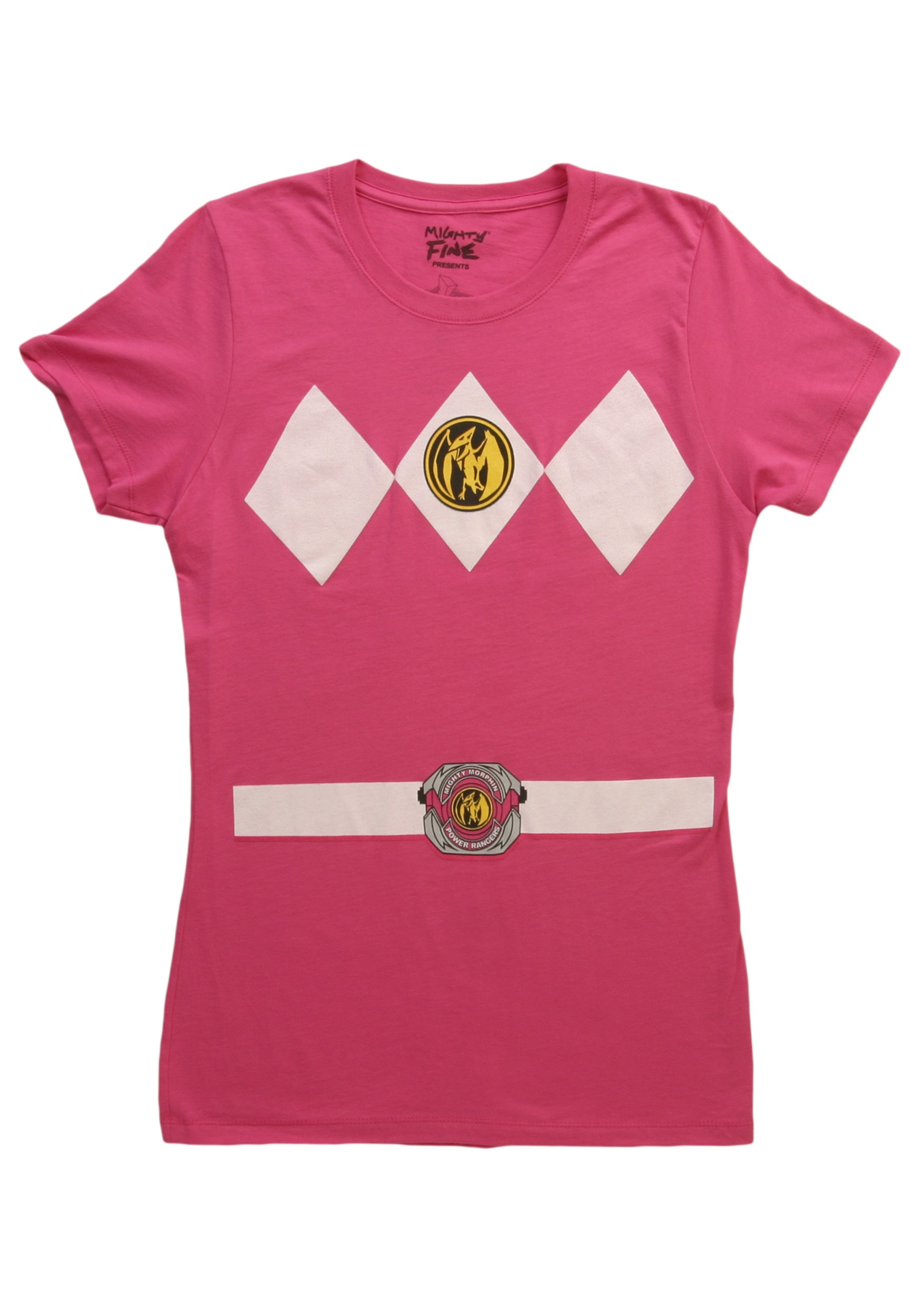 Womens Pink Power Ranger Costume T-Shirt