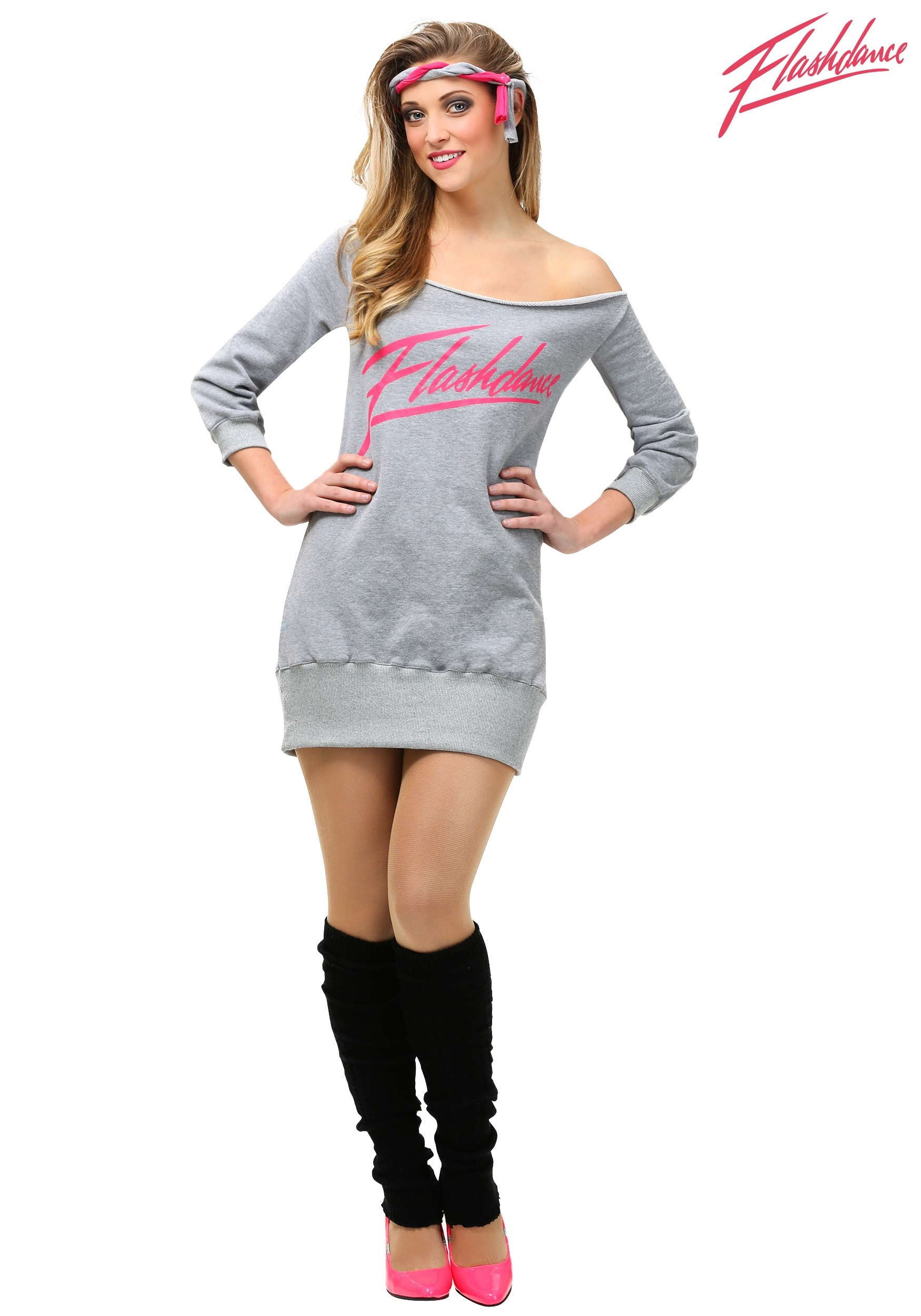 Women's Plus Size Flashdance Costume