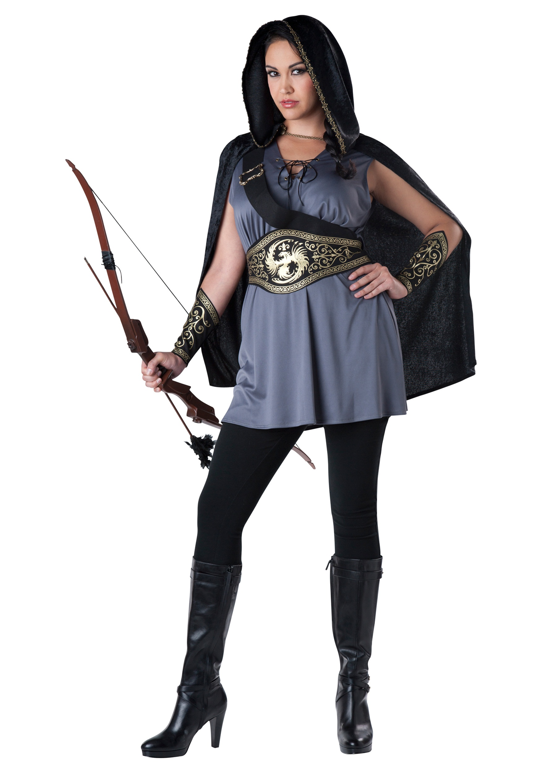 Women's Plus Size Huntress Costume