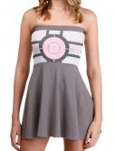 Womens Portal Companion Cube Tube Dress