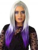 Womens Purple And Grey Ombre Wig