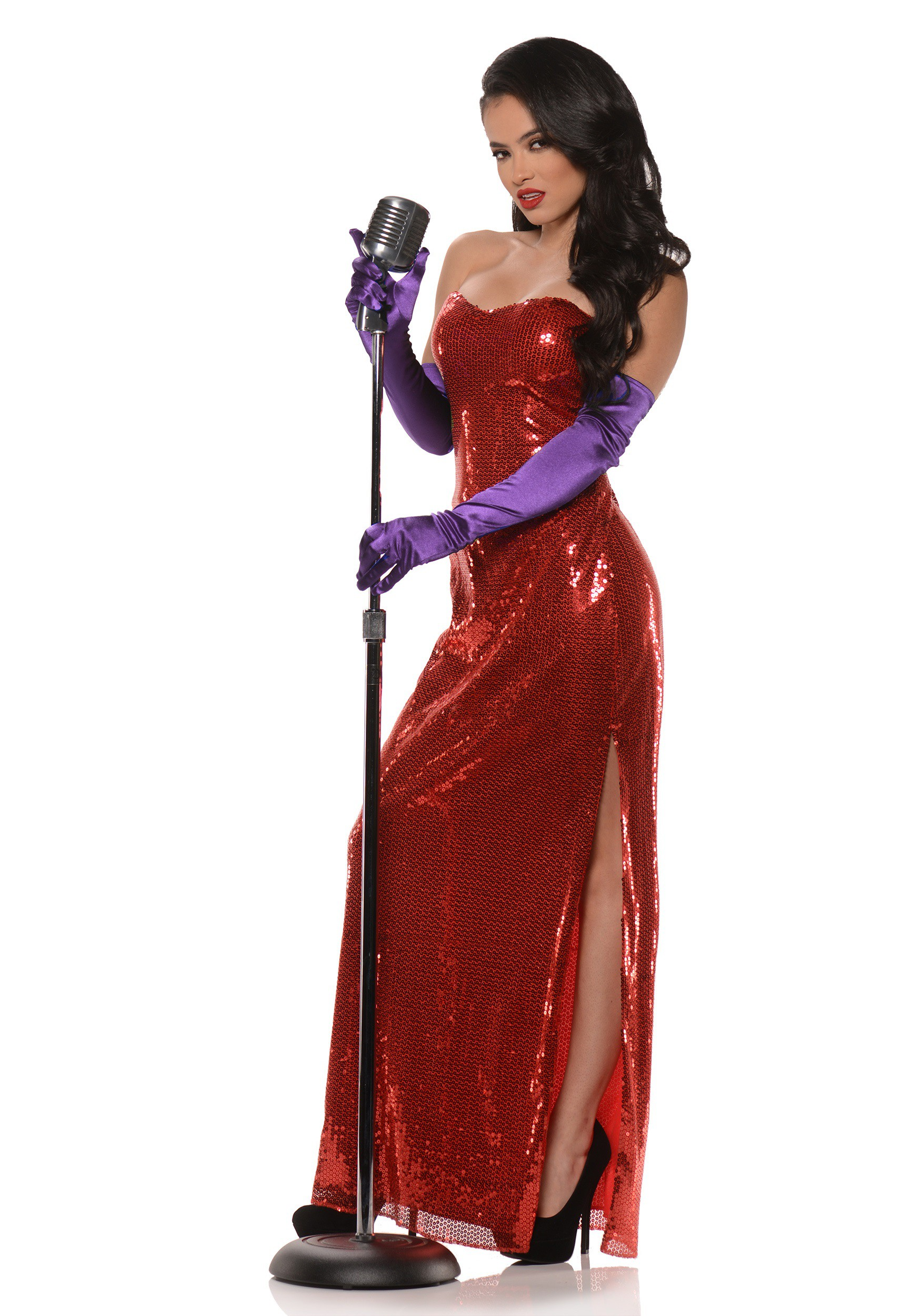 Women's Red Hollywood Bombshell Costume