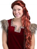 Women's Red Viking Wig